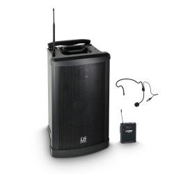 Prenosni aktivni baterijski zvočnik LD Systems Roadman 102 HS B 6 + naglavni mikrofon