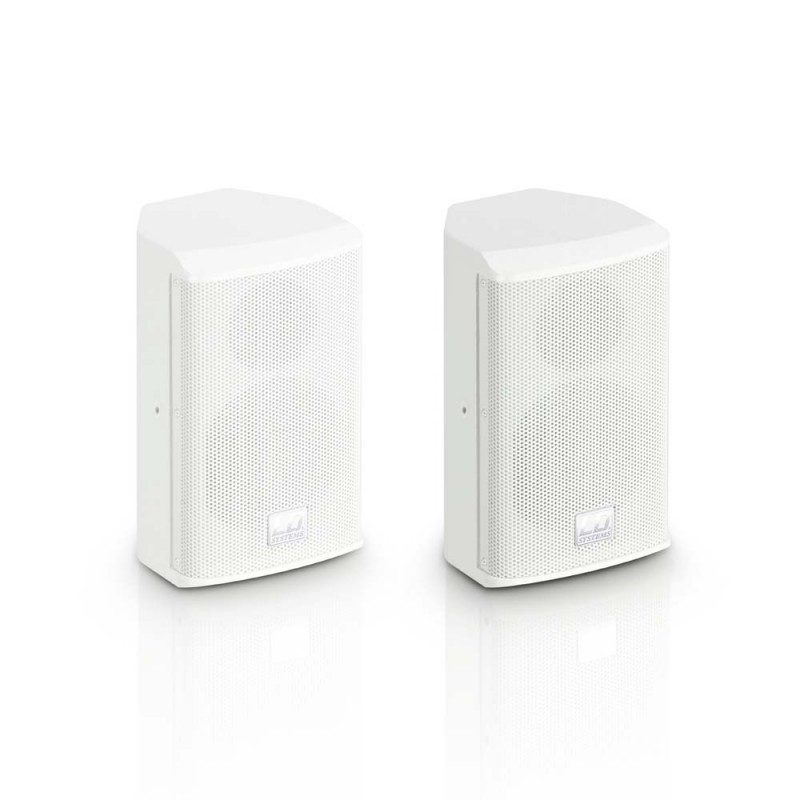 """LD Systems SAT 42 G2 W 4 passive Installation Monitor white (pair)"""""""