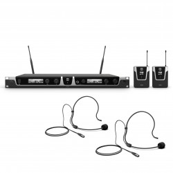 LD Systems U505 BPH 2 Wireless Microphone System with 2 x Bodypack and 2 x Headset