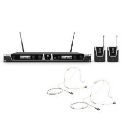 LD Systems U506 BPHH 2 Wireless Microphone System with 2 x  Bodypack and 2 x Headset beige