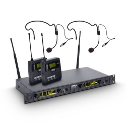 LD Systems WIN 42 BPH 2 Wireless Microphone System with 2 x Belt Pack and 2 x Headset