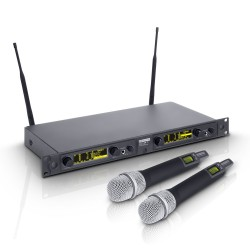 LD Systems WIN 42 HHD 2 Wireless Microphone System with 2 x Dynamic Handheld Microphone