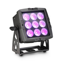 Cameo FLAT PRO FLOOD 600 IP65 Outdoor Flood Light with 9x12W RGBWA+UV 6-In-1 LEDs