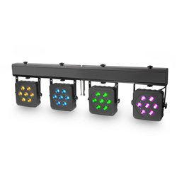Cameo Multi PAR 2 Compact 28 x 3 W tri colour LED lighting system incl. transport case