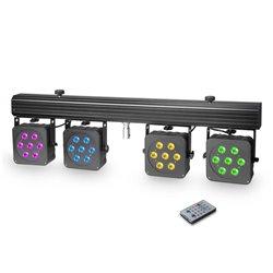 Cameo Multi PAR 3 Compact 28 x 8 W QUAD colour LED lighting system incl. transport case