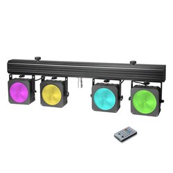 Cameo Multi PAR COB 1 Compact 4 x 30 W RGB COB LED lighting system incl. transport case