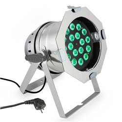 Cameo PAR 64 CAN Q 8W PS 18 x 8W QUAD Colour LED RGBW PAR light in polished housing