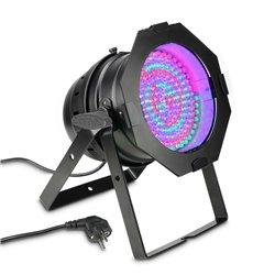 Cameo PAR 64 CAN RGBA 10 BS 177 x 10 mm LED RGBA PAR light in black housing