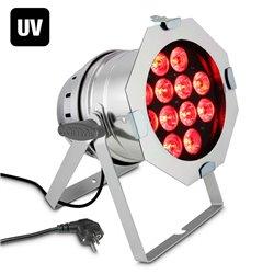 Cameo PAR 64 CAN RGBWA+UV 10 WPS 12 x 10W 6-in-1 LED RGBWA+UV PAR light in polished housing