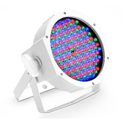 Cameo FLAT PAR CAN RGB 10 IR WH 144 x 10 mm  FLAT LED RGB PAR Spot light in white housing with IR-remote control capability