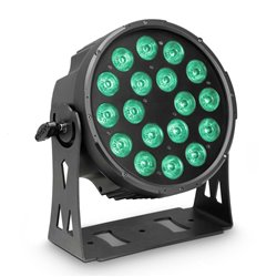 Cameo FLAT PRO 18 18 x 10 W FLAT LED RGBWA PAR light in black housing