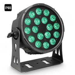 Cameo FLAT PRO 18 IP65 18 x 10 W FLAT LED Outdoor RGBWA PAR light in black housing