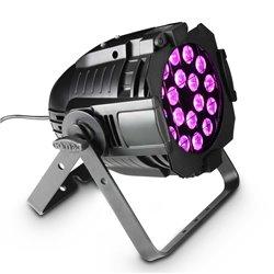 Cameo Studio PAR 64 CAN RGBA Q 8W 18 x 8W QUAD Colour LED RGBA PAR light in black housing