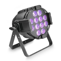 Cameo Studio PAR 64 CAN RGBWA+UV 12 W 12 x12W LED RGBWA+UV PAR light in black housing