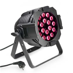 Cameo Studio PAR 64 CAN TRI 3W 18 x 3 W TRI colour LED RGB PAR light in black housing
