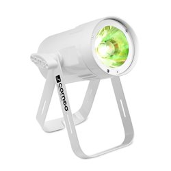 Cameo Q-Spot 15 RGBW WH Compact Spot Light With 15W RGBW LED In White Housing