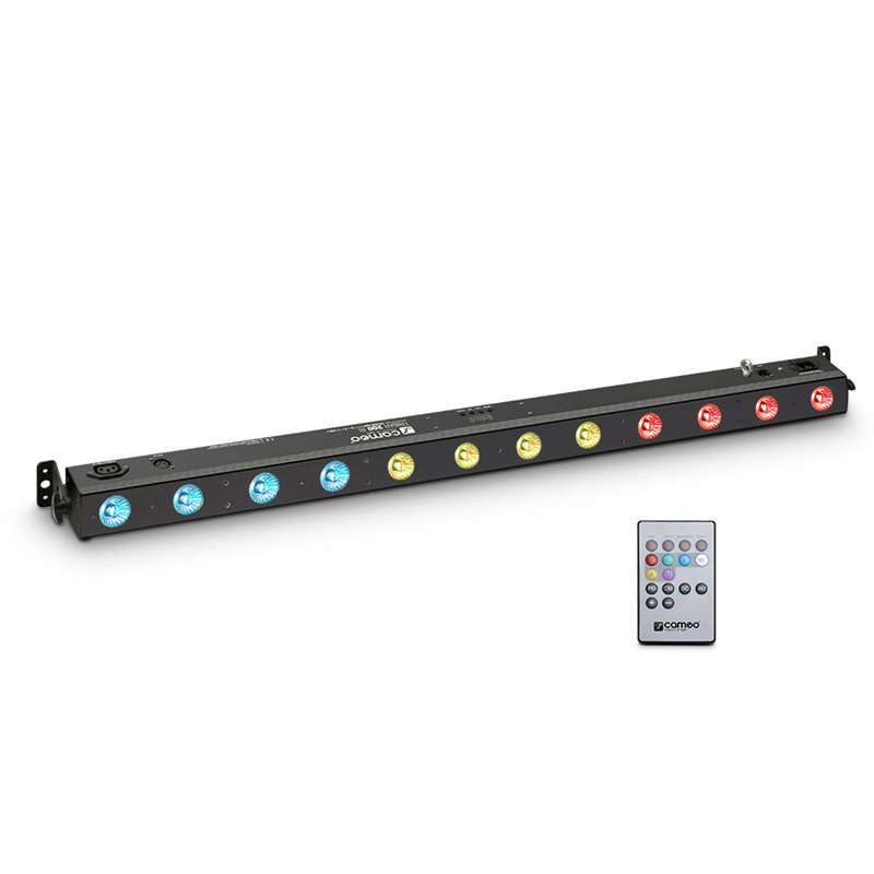 Cameo TRIBAR 200 IR 12 x 3 W TRI LED Bar in black housing with IR Remote Control