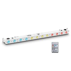 Cameo TRIBAR 200 IR WH 12 x 3 W TRI LED Bar in white housing with IR Remote Control
