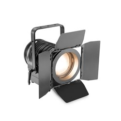 Cameo TS 100 WW - Theatre Spotlight with Fresnel Lens and 100 Watt Warm White LED in Black Housing