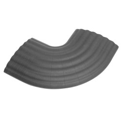 Defender Office C GREY 90° Curve grey for 85160 Cable Duct 4-channel