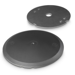 Gravity WB 123 SET 1 B Round Cast Iron Base and Weight Plate Set for M20 Poles