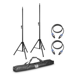LD Systems DAVE 8 SET 2 2 x speaker stand with transport bag + 2 x speaker cable 5 m for DAVE 8 systems