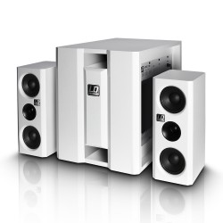 LD Systems DAVE 8 XS W Compact active PA system white