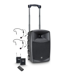 LD Systems ROADBUDDY 10 BPH 2 B6 Battery-Powered Bluetooth Speaker with Mixer, 2 Bodypack and 2 Headsets