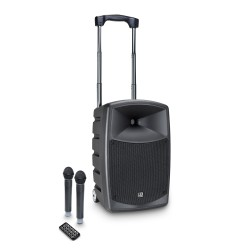 LD Systems ROADBUDDY 10 HHD 2 B6 Battery Powered Bluetooth Speaker with Mixer and 2 Wireless Microphones