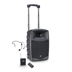 Prenosni aktivni baterijski zvočnik LD Systems ROADBUDDY 10 HS B5 + naglavni mikrofon