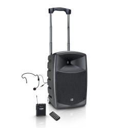 Prenosni aktivni baterijski zvočnik LD Systems ROADBUDDY 10 HS B6 + naglavni mikrofon
