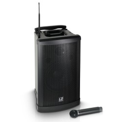 Prenosni aktivni baterijski zvočnik LD Systems Roadman 102 B 5 + ročni mikrofon